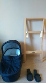 Mamas and papas carrycot + stand +adopters