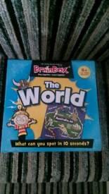 "BRAINBOX ""THE WORLD"" GAME AGED 8+"