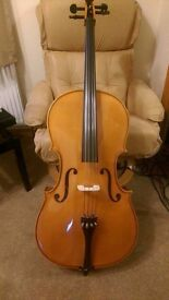Cello 4/4 full size Andreas Zeller outfit Solid Wood £700 ono