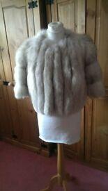 Real saga fox fur coat UK size 10