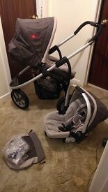Mothercare Quantum Urban Detour Travel System Car Seat Pram