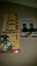 Jolly phonics guide book and work books