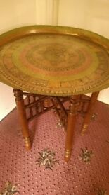Kashmir Brass Topped Table.