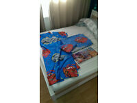 DISNEY CARS 2 Lightning Mcqueen - set of curtains, canvas pictures, duvet cover and pillow case