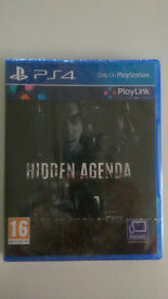 Hidden Agenda PS4 - Brand New Sealed