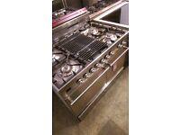 BRITANNIA 100CM S/STEEL CLASSIC RANGE COOKER WITH CHEF TOP!!