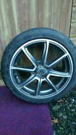 """Set of 4 fox racing alloy wheels 16"""" 4x100 vw Honda rover Audi seat and others."""