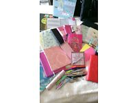 notebooks and more joblot. notebooks, pads, organiser, desk pad, wallets, pens, pencils, pencilcases