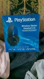 PS4 official wireless headset 2.0