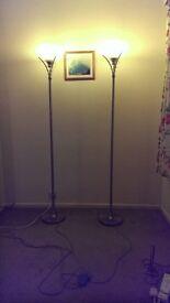 2 X Stylish Free-standing Uplighters