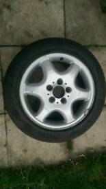 "16"" Mercedes spare alloy wheel with tyre"