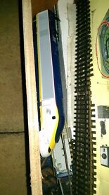 Eurostar 00 gauge dummy carriage and 2 passenger cars (spares or repair)