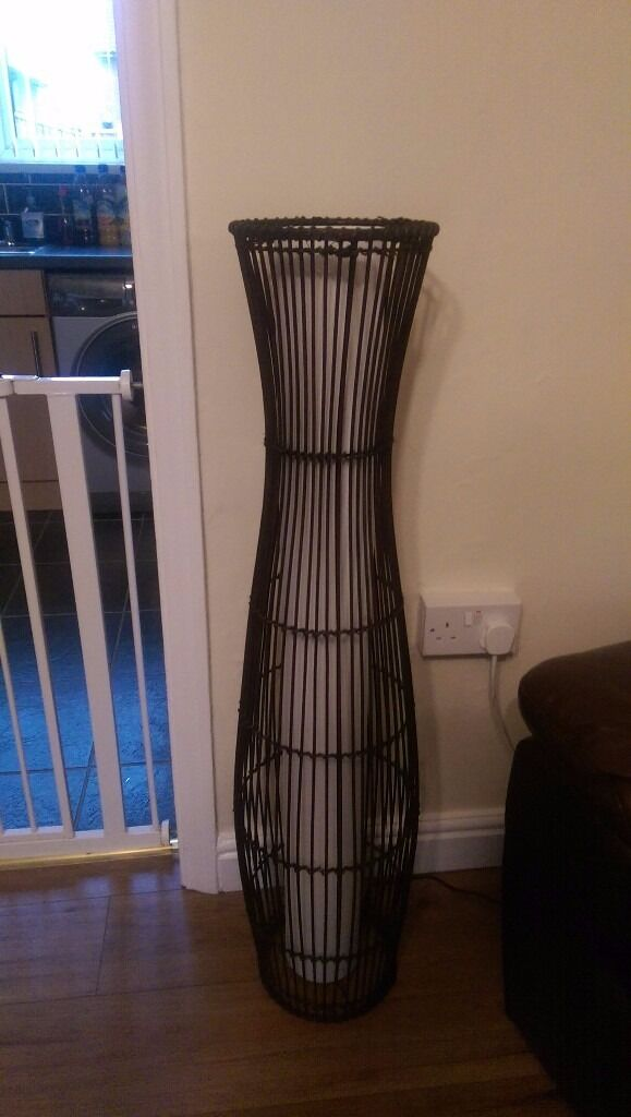 Sirit Rattan Floor Lamp Dark Brown In Tilbury Essex