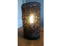 Table lamp, ratten style