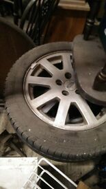 """Ford Focus 16"""" alloy wheels (very good condition winter tyres)"""