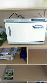 Barbers hot towel oven and steamer