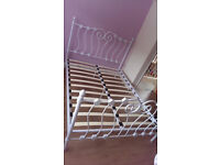 White Double Bed Frame - Hardly used