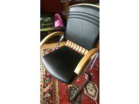 stylish retro bentwood chrome office chair