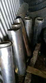 Stainless steel flues. Twin wall insulated.