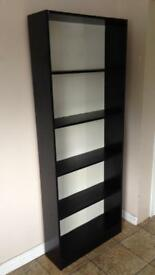 Black wood effect bookcase