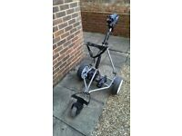 Electric Golf Trolley complete with Lithium Battery and Winter Wheels