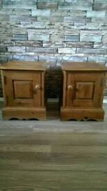 Barker and stonehouse antique pine bedside tables