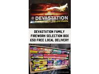 Family Selection Box Fire works Devastation