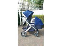 Uppababy Vista 2015 Model (double) Taylor Navy in excellent condition