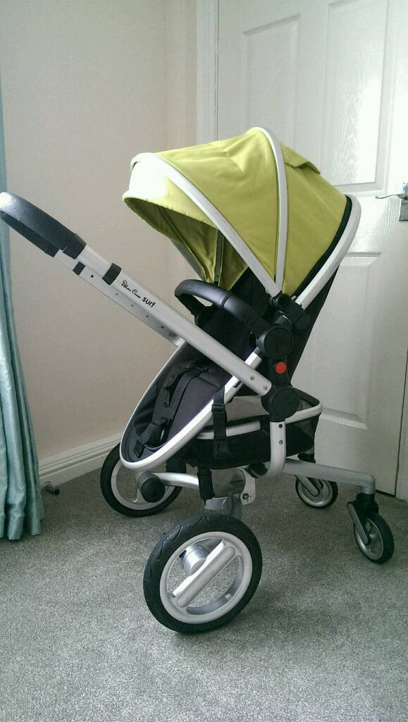 Silver Cross Surf Travel system + lots of extras including car seat. Pushchair, pram