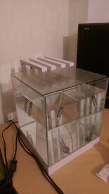 Modern White 22 Liter Fish Tank Aquarium With LED Lights