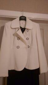 Ladies smart white /black jacket size 8