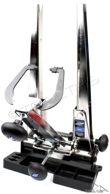 Park Tool TS-2.2 Chrome Pro Bike Wheel Truing Stand + TSB-2 Tilting Base Set