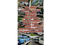 CARS WANTED SCRAP CARS REMOVED NON RUNNERS SAME DAY CASH PAYMENT
