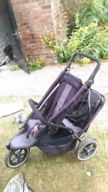 Double buggy pushchair Phil & Ted's