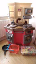 Little Tikes Super Chef Kitchen plus cooking accessories
