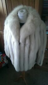 Real Fox Fur Coat Size 8-10 Immaculate