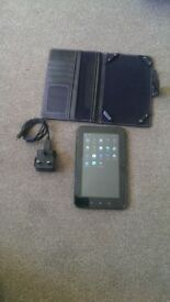 tablet with charger