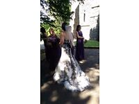Maggie Sottero Rose Gold and Black Palartzo Gown Size 10
