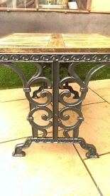 Cast iron garden table and chairs project