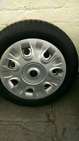 Mini one steel wheels with trims
