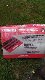 """3/8""""drive 39pc impact sockets new. torqu wrench 3/8 drive socket set. priced separately"""