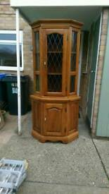 Tall corner cabinet, perfect to shabby chic