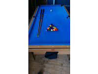 """BCE Sports Pool Table, Balls & Cues, almost full size 33"""" by 66"""""""