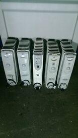 JOB LOT: 5 x Oil Filled Radiators