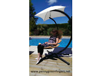 NEW UNIQUE ERCOL STYLE HANGING CHAIR AND STAND FOR GARDEN,PATIO,CONSERVATORY