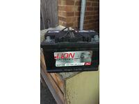 car battery LN100 76ah 680cca 18 month 0ld