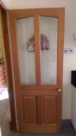 4 Matching Hardwood Internal Doors - 2 used, 2 new