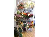 closing down sale artificial flowers
