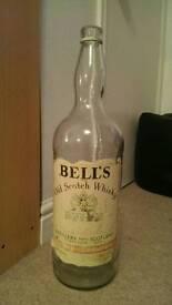 Large empty whisky bottle