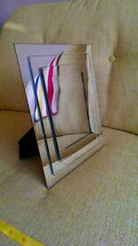 Silver mirrored photo frame